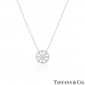 Tiffany & Co. Platinum Diamond Flower Necklace